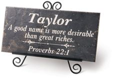 PERSONALIZED GOOD NAME STONE PLAQUE