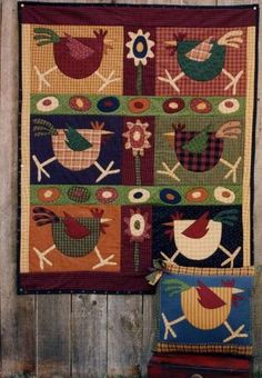 Pattern  Spring Chickens  by Memes Quilts  40 by PrimitiveQuilting, $6.00