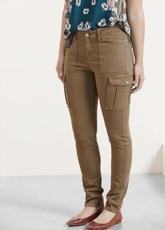 8 mejores imágenes de pantalones cargo mujer  cc6fa0236d53