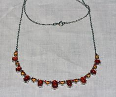 Sunstone brazilian citrine and cherry fire by RetroRecyclables, $80.00 SOLD