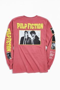 Shop Pulp Fiction Storyline Long Sleeve Tee at Urban Outfitters today. We carry all the latest styles, colors and brands for you to choose from right here. Cool Hoodies, Cool Shirts, Pulp Fiction Shirt, Graphic Tees, Graphic Sweatshirt, Tee Shirt, American Eagle Outfits, Shops, Hipster Fashion