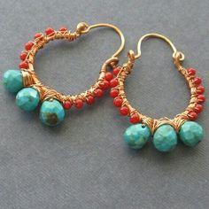 Beaded boho earrings #pinspiration