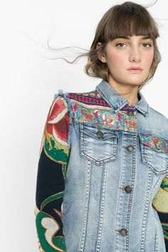 Embroidery and tricot fits in this mix & match formula. Tribal prints in our denim base and different ingredients to make a casual jacket a different look.