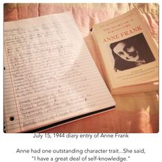 Anne had one outstanding character trait. Anne Frank Quotes, Character Trait, Gemini, Self, Knowledge, War, Sayings, Twins, Lyrics