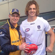 Nat Fyfe with @SteveHubba. #goFreo!