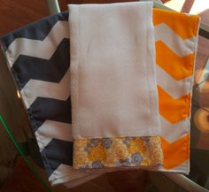DIY burp cloths lined with cloth diapers