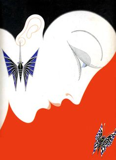 Erté: Harpers Bazar cover illustration May, 1928 Art Deco Illustration, Art Deco Posters, Poster Prints, Art Prints, Motifs Art Nouveau, Erte Art, Estilo Art Deco, Art Vintage, Collage Vintage