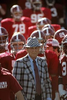Bear Bryant and his players before a 1979 game against Mississippi State. From Twitter