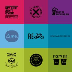 Free Reimagined Recycling Logos