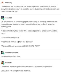 Funny Archives - Batman Funny - Funny Batman Meme - - Clark Kent hates Superman Batman Funny Ideas of Batman Funny Clark Kent hates Superman The post Funny Archives appeared first on Gag Dad. Clark Kent, My Tumblr, Tumblr Funny, Loving You For Him, Nananana Batman, Dc Memes, Fandoms, Detective Comics, Young Justice