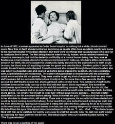 THE EXPRESSIONLESS WOMAN...REALLY SPOOKY!!! :O