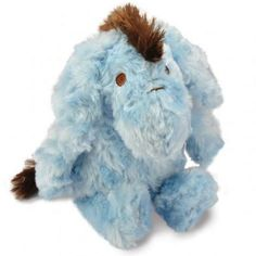"This charming blue 9"" Eeyore plush toy is sure to amuse and entertain your baby! She'll love snuggling him or exploring his knit accents and handsome brown mane. The Eeyore plush toy is super-soft and made from 100% polyester."