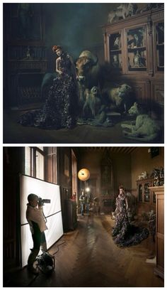 Miss Aniela. Light setup