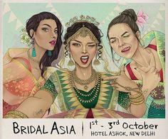 Save the date for Bridal Asia (Delhi) @bridalasia  Dates : 1st - 3rd October.  Venue : Hotel Ashok, Chanakyapuri, Delhi.  All your bridal shopping needs sorted in one place !  #bridalasia #bridalasia2016  #wedding #festivewear #diwali # bride #bridesmaid #delgi #jewellery #clutches #trousseau #celebration #diamonds #couture #weddingshopping