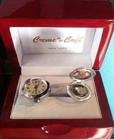 RARE Original Vintage SWANK Watch and Locket Cufflinks. $150.00, via Etsy.