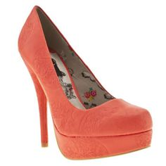 Women's Peach Iron Fist Maneater Platform Court at schuh