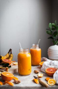Pineapple Orange Banana Juice + Vanilla & Turmeric - The Kitchen McCabe