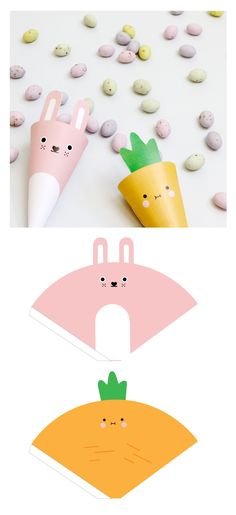Get ready for Easter with some fun Noodoll DIY projects! Download the templates bellow to make some cute gift boxes and character cones, which are perfect for holding all the little treats you find on your easter egg hunt! #giftpackaging