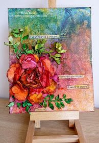 Bumblebees and Butterflies: Summer Heat Mixed Media Project
