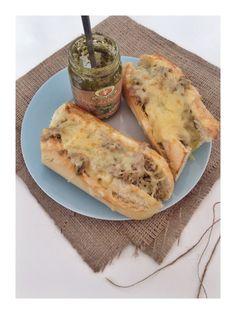 Cheesy tuna melt :http://daisiesandpie.co.uk/cheesy-tuna-melt/