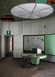 Control Room from Abandoned Power Plant in Austria by ~bRokEnCHaR on deviantART