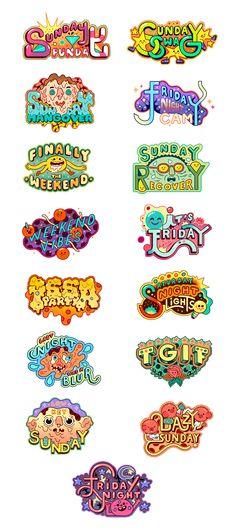Cristian Robles on Behance Graphic Design Fonts, Text Design, Game Design, Icon Design, Lab Logo, Art Folder, Kids Logo, Grafik Design, Cool Logo