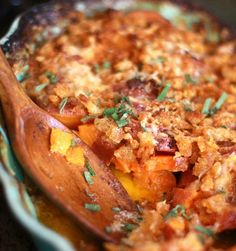 savory sweet potato casserole - i want to veganize this.