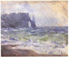 Claude Monet, Pluie à Étretat, 1884
