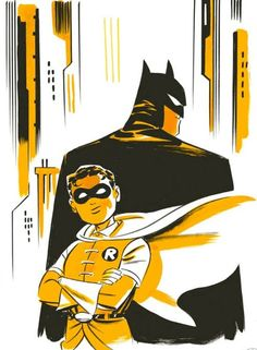 """Batman and Robin by Darwyn Cooke  This pictures makes me wish for a mini-series drawn and written by Mr. Cooke.  This screams """"Dynamic Duo."""""""