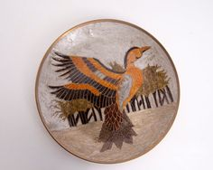 Vintage India Brass Plate Enamel Painted by LeVintageGalleria