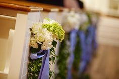 periwinkle/white/bright green floral