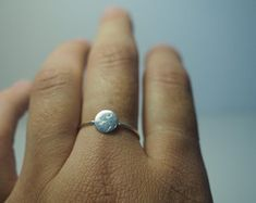 simple silver round ring, thin minimal look