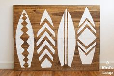 A Bird's Leap: DIY Surfboard Headboard or Wall Art