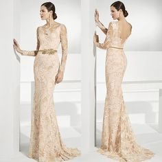 9ef29cced95d Elegant Lace Mermaid Mother Of The Bride Dresses Sheer Bateau Neck Backless Wedding  Guest Dress Floor Length Plus Size Evening Gowns Cheap Mother Of The ...