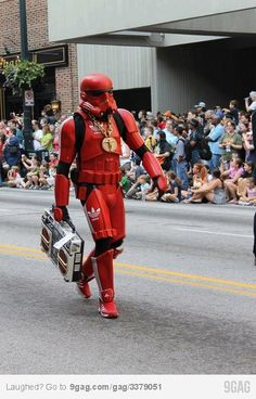Awesome trooper, Adidas.
