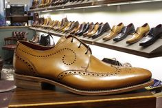 d2dc00251c436 Loake men's tan leather shoe. Kruger style. Goodyear welted, also available  in black