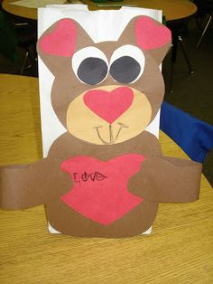 Love these Valentine bags that go along with the story The Valentine Bears