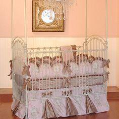 Angelique Baby Bedding from PoshTots... possible do this to skirt from restoration???