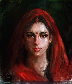 Artist Kiran Kumar (Indian artist) - Art And Beauty Indian Women Painting, Indian Artist, Indian Paintings, Buy Paintings, Classic Paintings, Beautiful Paintings, Mural Painting, Woman Painting, Face Proportions
