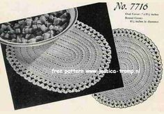 Round and Oval Covers  	  Favorite Doilies  Book No. 217  The Canadian Spool Cotton Company  1945