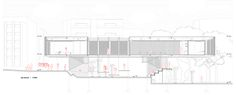 Section drawing for Mani[fold], Event Centre in Istanbul.   Second Prize , Bakırkoy Event Center Competition.