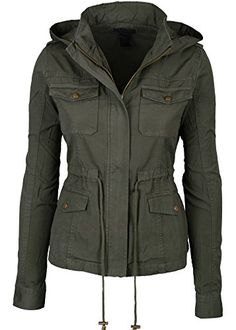 Womens Green Fashion Pocket Utility Jacket with Collar and Removable Hood Large Keebon Apparel http://www.amazon.com/dp/B00NFGJ3G8/ref=cm_sw_r_pi_dp_VV2lub1SE8S8Q
