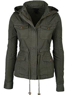 Womens Green Fashion Pocket Utility Jacket with Collar and Removable Hood Large Keebon Apparel http://www.amazon.com/dp/B00NFGJ3G8/ref=cm_sw_r_pi_dp_VV2lub1SE8S8Q
