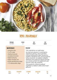 Recept z knihy Štíhle recepty do 15 minút Chana Masala, Tofu, Ethnic Recipes, Fit, Shape