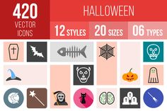 420 Halloween Icons by IconBunny on @creativemarket