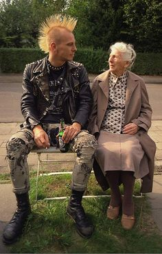 Lady with Punk Grandson II by Chris_ti_ane, via Flickr