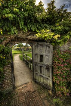 I Dream Of A Victorian Walled Garden With Rustic Wooden Gate Just Like The Secret Barrington Court Somerset