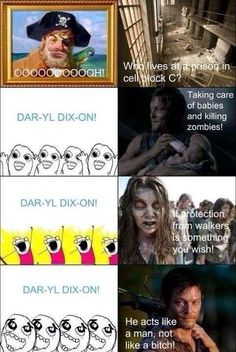 The theme song of Spongebob Squarepants, replaced with Daryl Dixon, turns it into something AMAZING!!!!