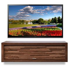 woodwaves floating tv stand eco geo mocha