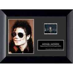 """Michael Jackson 7.5""""x5.5"""" S2 Wood Framed Movie Film Cells Plaque 